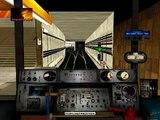 Вид из кабины метро, симулятор