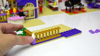 Lego Friends Heartlake Grand Hotel Set Unboxing Building Review Part Two - Kids Toys