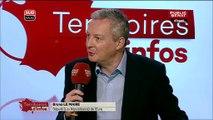 L'interview de Bruno Le Maire perturbée par le chant d'un coq au Salon de l'Agriculture