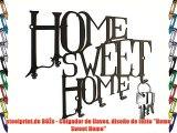 steelprint.de BOŽs - Colgador de llaves diseño de texto Home Sweet Home