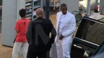 Tina Knowles Wedding Arrivals