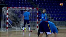 FCB Handbol: declaracions Xavi Pascual prèvia Quabit BM Guadalajara-FC Barcelona Lassa [CAT]