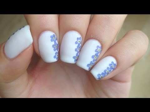 Easy DIY Dried Flower Nail Art