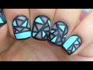Nail Art Tutorial: Geometric Negative Space (perfect for short nails!)
