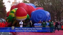 Wednesday Night Sneak-Preview of Macys Thanksgiving Day Parade