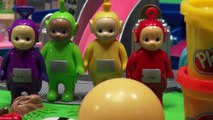 Play Doh Teletubbies fun building The Teletubbies Favourite Things, with the Teletubbies