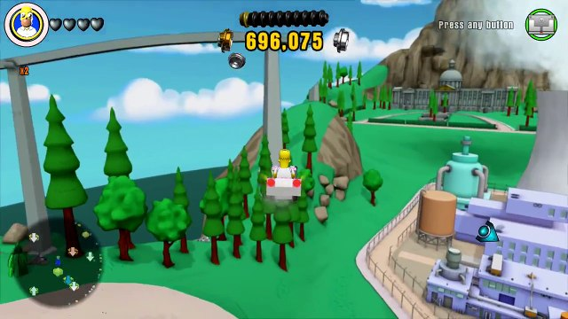 LEGO Dimensions - Homer Simpson Free Roam Gameplay on The Simpsons World