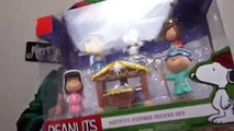 Peanuts Movie Charlie Brown Christmas 2015 Nativity Set Unboxing Toy Video Charlie Snoopy