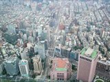 A view of the city of Taipei from the Taipei 101