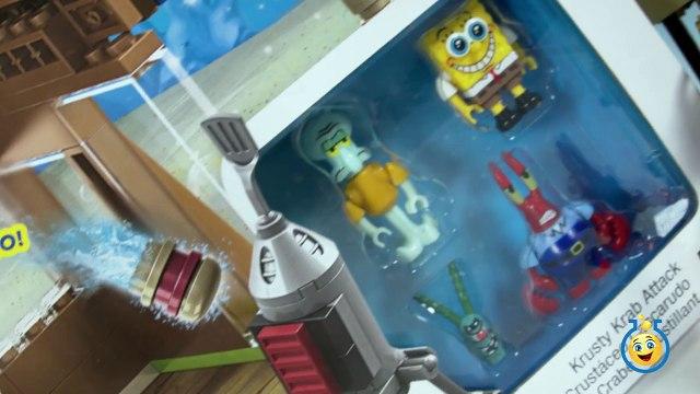 SpongeBob SquarePants Toys Mega Bloks Krusty Krab Attack Playset with Krabby Patty Launcher