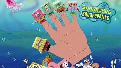 SPONGEBOB SQUAREPANTS - Finger Family Song [Nursery Rhyme] Toy PARODY | Finger Family Fun