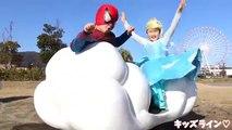 Spiderman FROZEN Elas VS Star Wars Kylo Ren Light Saber discovery!! スパイダーマン エルサ VS スターウォーズ