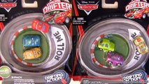 12 Cars Micro Drifters from Disney Pixar Cars2 3-Pack Exclusive Lightning McQueen by Disneycollector