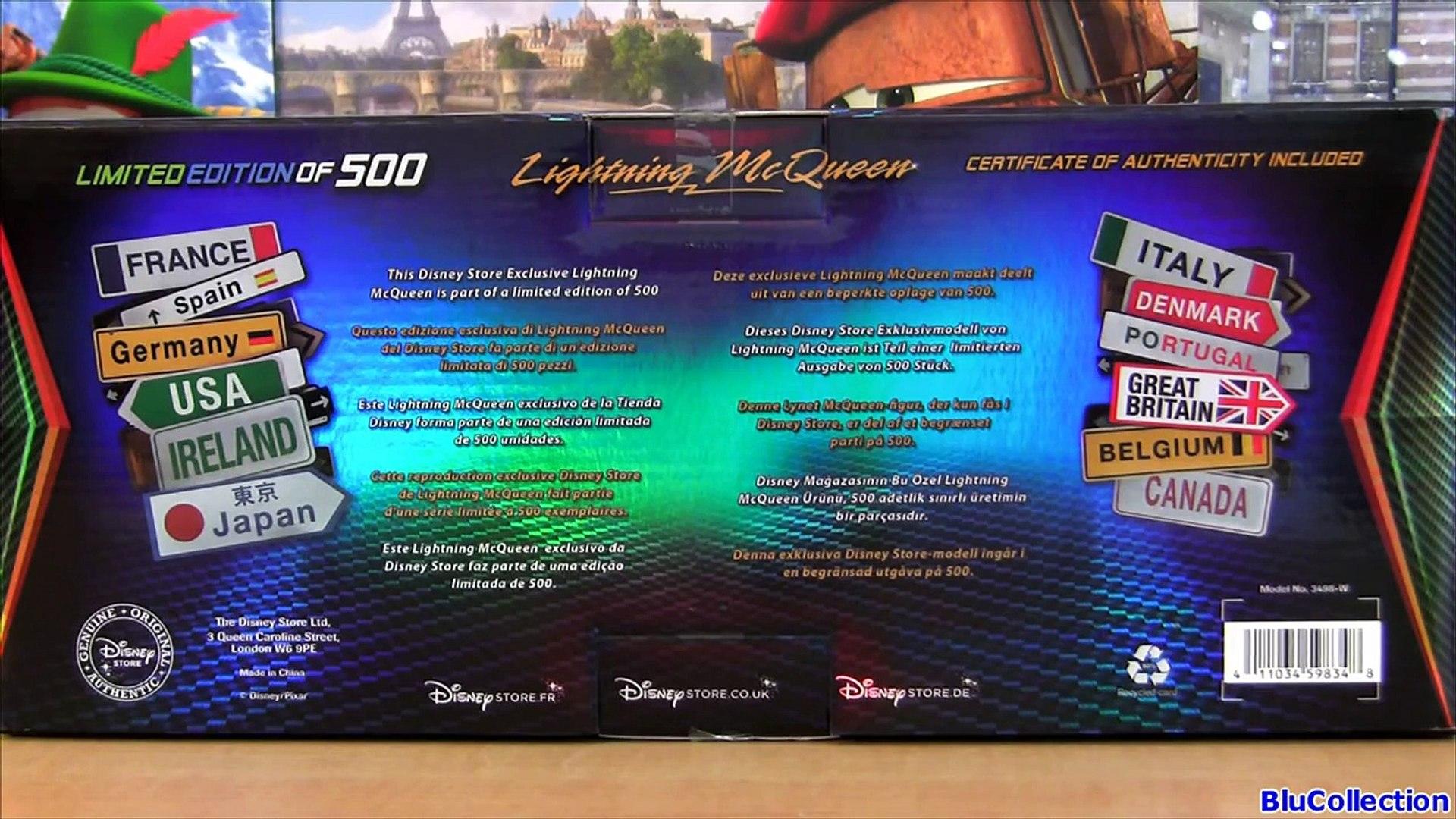 Limited Edition Chrome Lightning McQueen World Grand Prix CARS 2 International Silver Metallic car