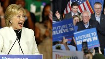 Clinton celebrates Super Tuesday win while Sanders vows victory for 'the people'