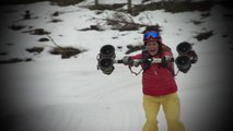 Skier avec des ventilateurs d'un propulseur électrique