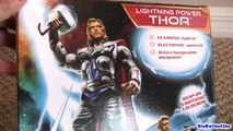 Avengers THOR Action Figure Lightning Power Hammer The Avengers toy review