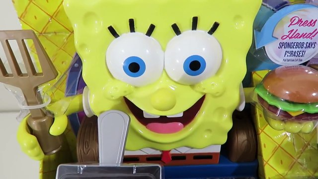 Spongebob Talking Krabby Patty Maker Spongebob Squarepants Playset Unboxing and Toy Review!