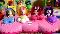 Disney Baby Minnie Mouse Pop-Up Surprise Pals VS. Sesame Street Pop Up Pals Babies Toys