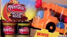 Play Doh Cars Buster Power Crane Wrecking Ball Diggin Rigs Monster Truck McQueen Disney Pixar toys