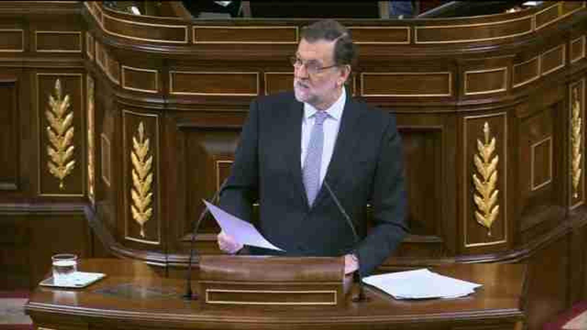 Rajoy cierra su discurso considerando un