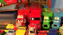 Pixar Cars Mack and Screaming Banshee Ramp Jumping with Neon Lightning McQueen, Mater and Much More