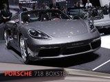 Porsche 718 Boxster en direct du salon de Genève 2016