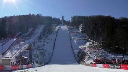 Skier fails landing on Snow during Ski Jump!! Thomas Diethart Accident
