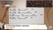I've Got You Under My Skin - Frank Sinatra Guitar Backing Track with scale, chords and lyrics
