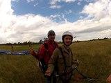 Paragliding. Парапланеризм. Взлёт тандем - пилота Николая. GOPR0942
