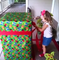 A three-year-old girl finds her father in her birthday gift