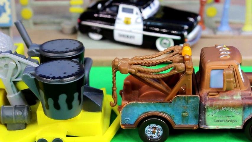 Disney Cars Pixar Mater Dreams of Saving Imaginext Batman Wolverine Hulk Lightning McQueen