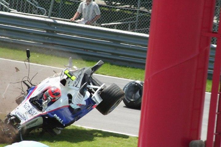 Canada 2007 Kubica HUGE crash Dutch Commentary