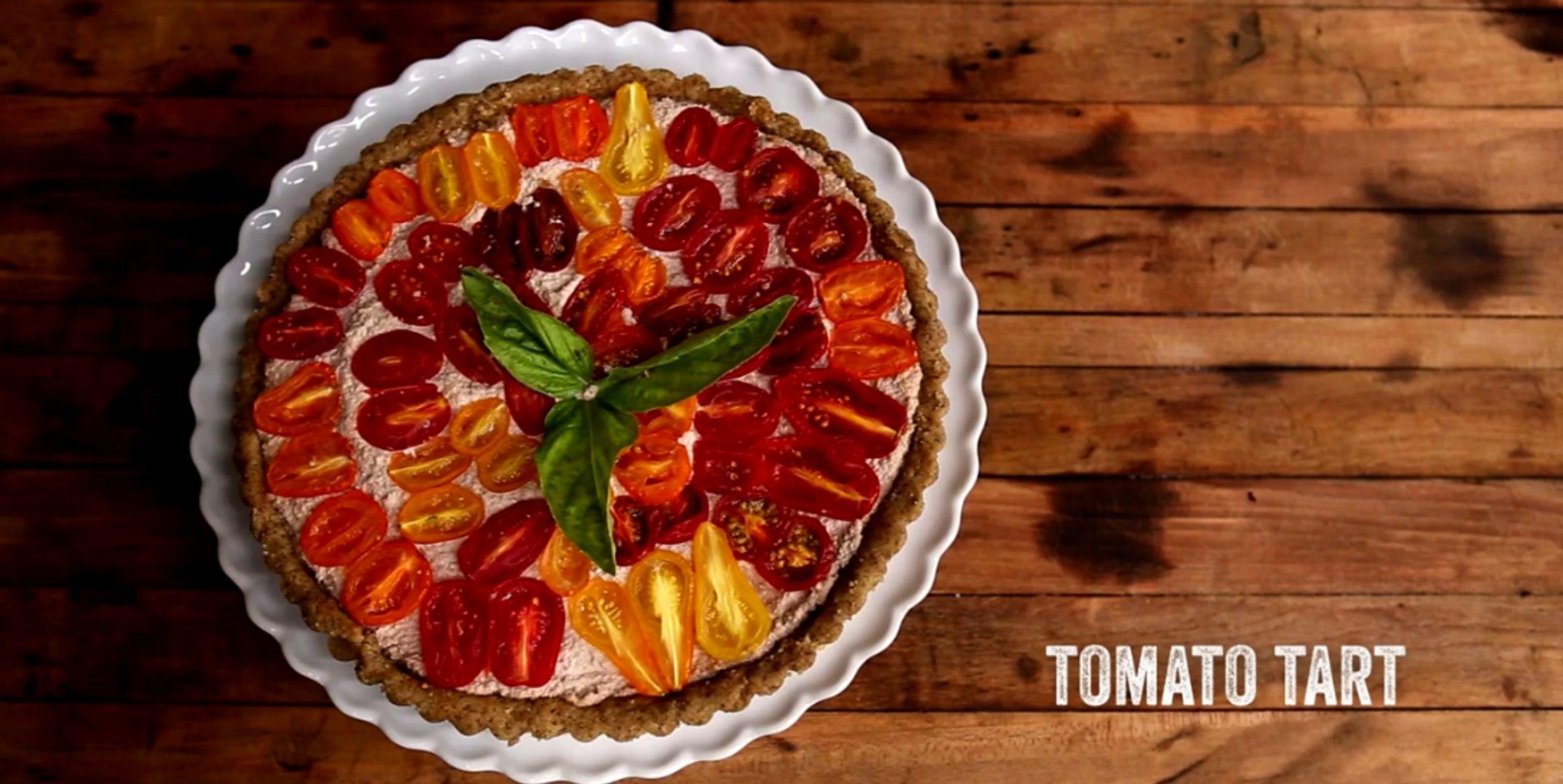 VEGAN TOMATO TART - Raw. Vegan. Not Gross