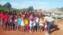 Crianças do projeto biblioteca de Taipa Miguel Alves Piauí