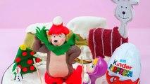 Des oeufs en chocolat Kinder Surprise de Noël, sur la neige, Avec Macha et lOurs anglais - 2016
