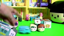 Disney Frozen Tsum Tsum Anna Elsa Olaf with Disney Tsum Tsum Motors Mickey Mouse