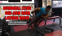 Vücut Geliştirme Hareketleri - DUMBBELL LYING ONE-ARM REAR LATERAL RAISE