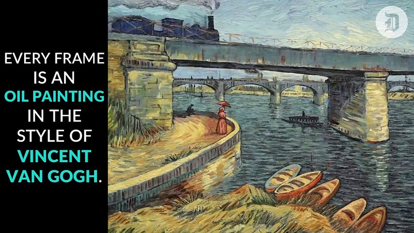 A film about Vincent Van Gogh made with oil paintings