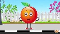 Peach Fruit Rhyme for Children, Peach Cartoon Fruits Song for Kids