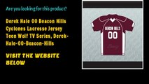 Derek Hale 00 Beacon Hills Cyclones Lacrosse Jersey Teen Wolf TV Series, Derek-Hale-00-Beacon-Hills