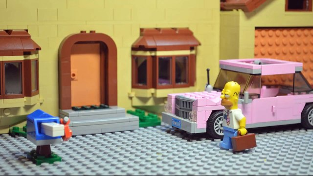 Lego Batman and Homer Simpson. Never eat Homer Simpsons Donuts.