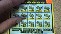 $10 lottery ticket roll scratching. Ticket #43 of 50. $200 million extreme cash