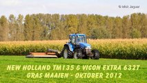 New Holland TM135 & Vicon Extra 632T gras maaien