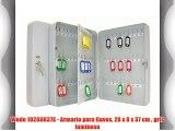 Wedo 10260837X - Armario para llaves 28 x 8 x 37 cm  gris luminoso