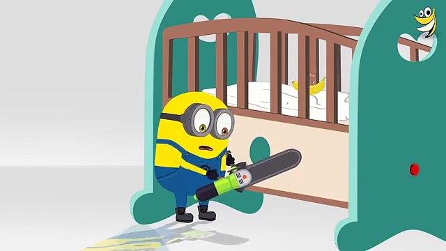 Minions Banana Baby Crib Funny Cartoon ~ Minions Mini Movies 2016 [HD] 1080p