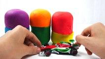Disney Pixar Cars Toys Collection Surprise Eggs Lightning McQueen Ramone Cars 2 Play Doh 4 Children