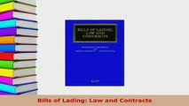 Download  Bills of Lading Law and Contracts Free Books