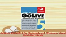 PDF  Adobe GoLive 5 for Macintosh and  Windows Visual QuickStart Guide Download Online