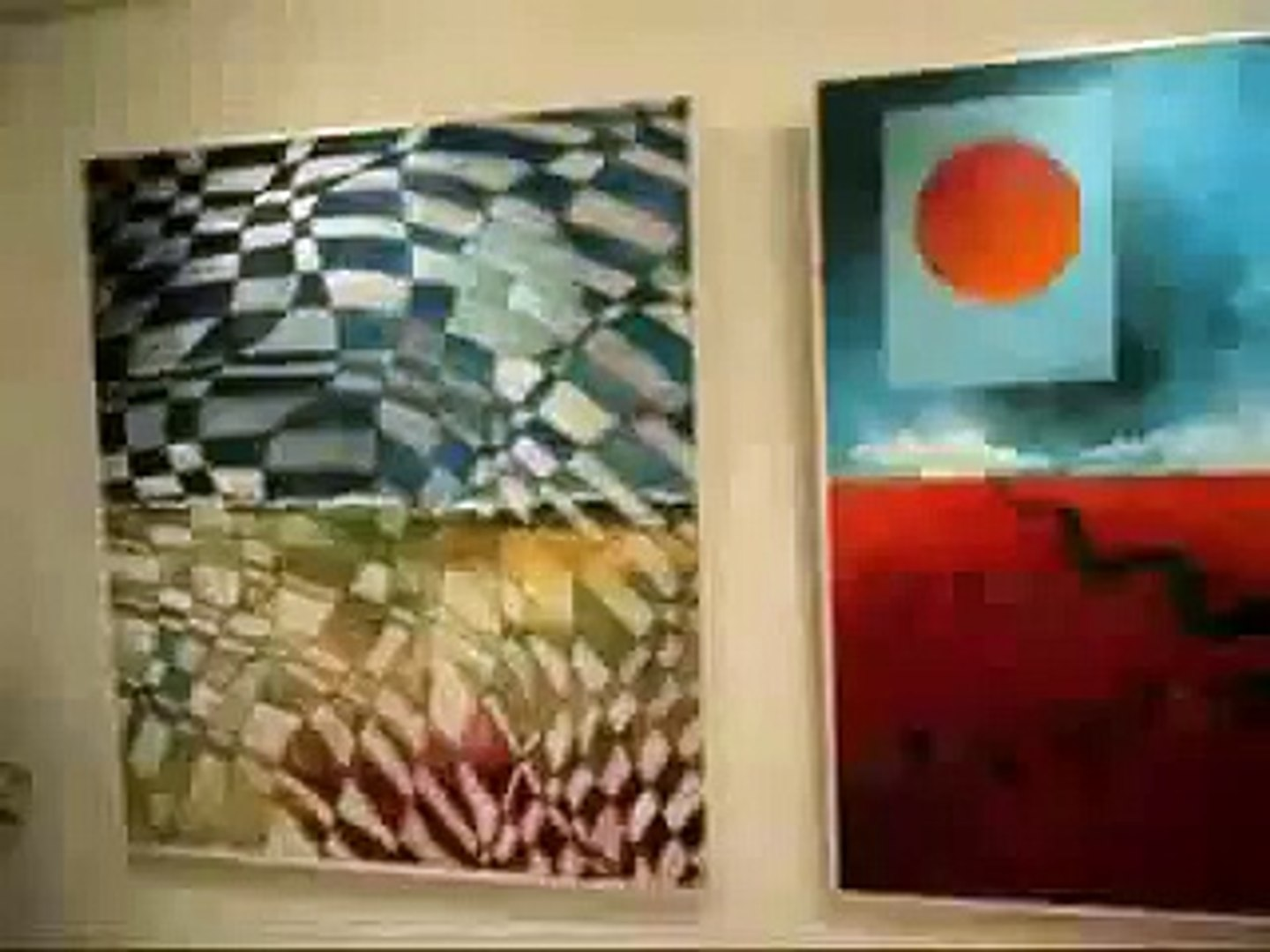 Political cartoons and Paintings Exhibition.flv
